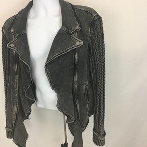 Free People drape front jacket size medium